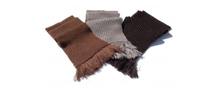 Écharpes tricotées